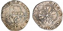 Charles VIII (1483-1498) - Blanc à la couronne de Bretagne - Rennes