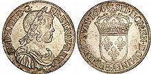 Louis XIV (1643-1715) - ½ d'écu à la mèche courte - 1645 A (Paris) point