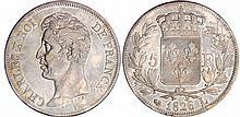 Charles X (1824-1830) - 5 francs 1er type 1826 L (Bayonne)