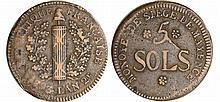 Allemagne - Siège de Mayence - 5 sols 1793