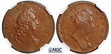 Grande Bretagne  - William et Mary (1688-1694) - 1/4 de penny