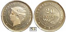Haiti - Empire (1849-1863) - 20 centimes 1877 IB CT essai