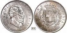 Italie - Vittorio Emanuele II (1861-1946) - 5 lire 1870 M (Milan)