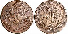 Russie - Catherine II (1762-1796) - 5 kopecks 1776 EM (Ekaterinburg)