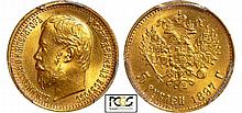 Russie - Nicolas II (1894-1917) - 5 roubles 1897 A? (Saint-Pétersbourg)