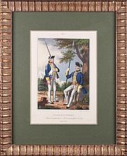 SOLDIER AND OFFICER OF KETTENBURG MUSKETEER REGIMENT, 1762.
