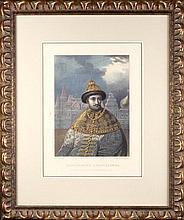 Alexander BELOUSOV (1803-?), Mikhail ZELENSKY (1843-1882).RUSSIAN TSAR FYODOR ALEXEYEVICH.