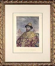 Rudolph ZHUKOVSKY (1814-1886), Mikhail ZELENSKY (1843-1882). RUSSIAN TSAR IVAN ALEKSEYEVICH.