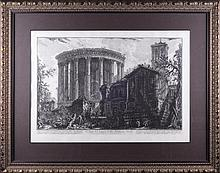 Giovanni Battista PIRANESI (1720-1778). VIEW OF TEMPLE OF SIBILLA AT TIVOLI.
