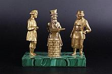 A  RUSSIAN BRONZE INKWELL «IN THE SMITHY».
