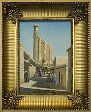 Richard-Karl ZOMMER (1866-1939). RUSSIAN PAINTER..THE STREET IN SAMARKAND.