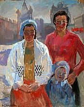 Nina SERGEEVA (born in 1921).  RUSSIAN PAINTER. MOSCOW. FAMILY.