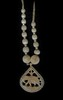 Antique Carved IVORY Necklace from India circa 1940's