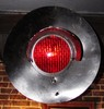 Railroad Crossing Signal Light wired for household current, blinks red