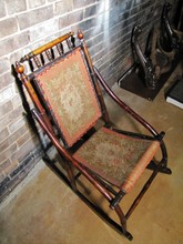 Antique Bamboo 19h Century Rocking Chair D. DEXTER - BLACK RIVER
