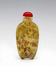 Snuff bottle with fine underpainting