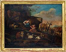 Landscape with shepherds and herd, Philipp Peter Roos (Rosa da Tivoli)