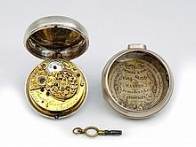 Silver Pocket Watch with Spindle-Mechanism, Bartholomew Lavington