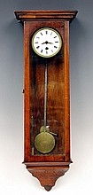 Miniature wall clock, late biedermeier