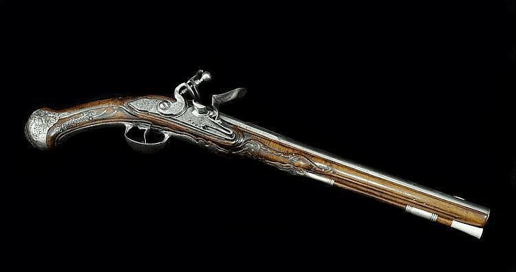 A Long Flintlock Pistol for the Oriental Market