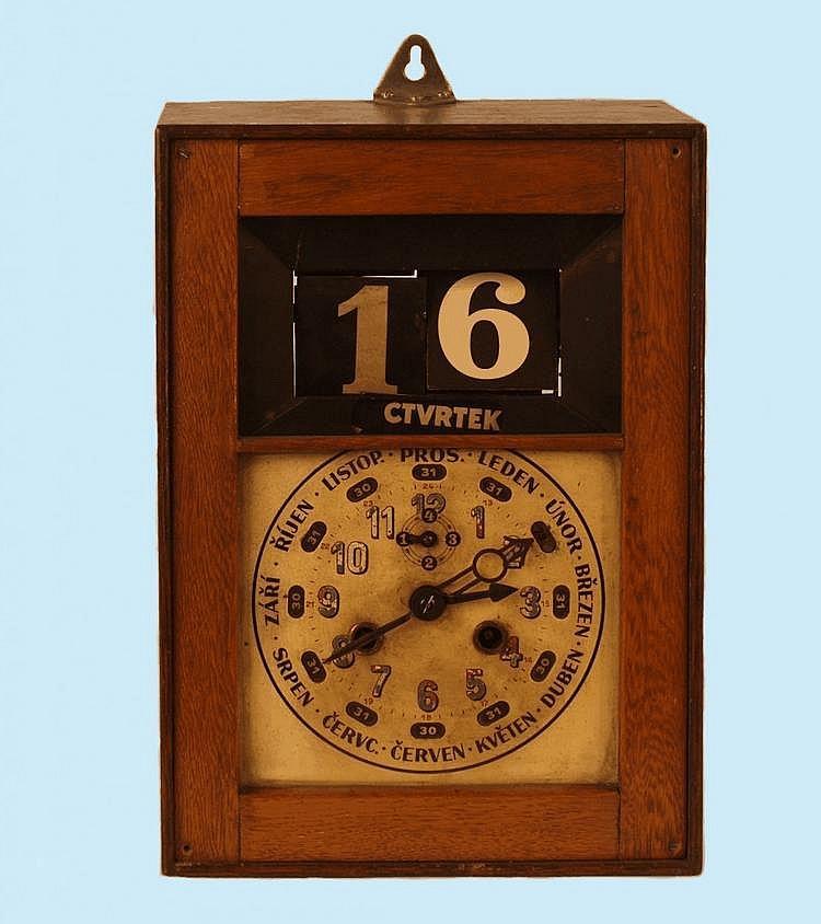 Wall Clock with Perpetual Calendar, Kienzle