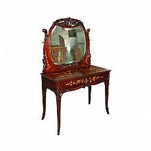 Antique 19th C. American R.J. Horner Mahogany Inlaid Vanity