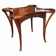 Elegant Inlaid Art Nouveau Table