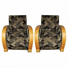Pair of Vintage French Art Deco Chairs c. 1930