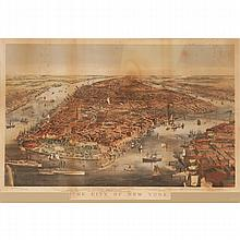 Currier & Ives 'The City of New York, 1856;
