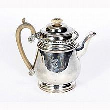 Old Sheffield English silver plate teapot.