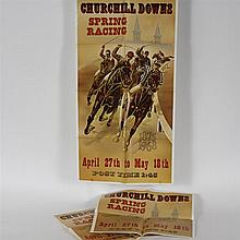 Lot of three Vintage 1968 Churchill Downs Spring Racing Posters 41