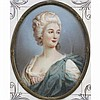 Francois Dumont, (French; 1751-1831), portrait miniature of Sophie Marie Countess von Voss, on ivory, 3 1/4