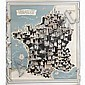 1952 Map of French Cathedrals;