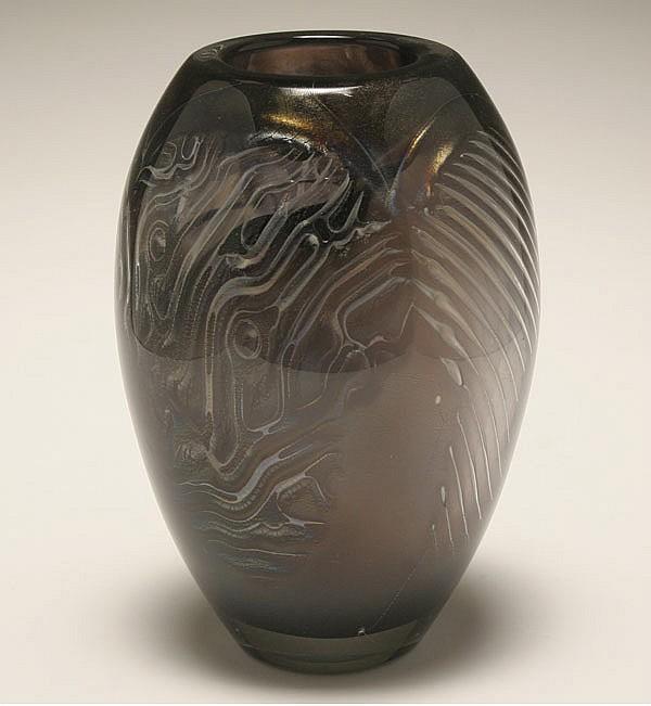 David Huchthausen, American; b. 1952, Baden bei Wien, 1978, blown glass, 8