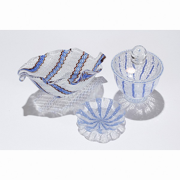 Lot of Three Murano glass items; one Seguso, one in the style of Dino Martens.
