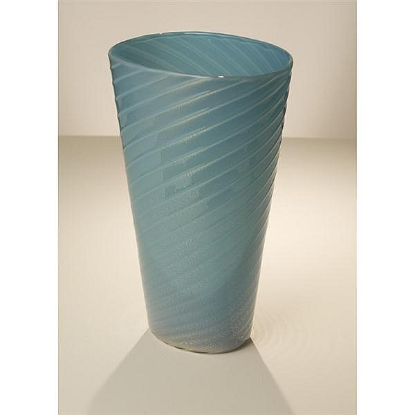 Archimede Seguso alga color glass vase.
