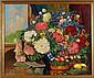 Mary Creamer, (American; b. 1892), Floral Still Life, Oil on canvas, 30