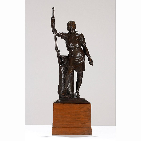 Albin Polasek, (1879 - 1965), The Remington Centennial Trophy, Eliphalet Remington II, bronze, Sculpture; 27
