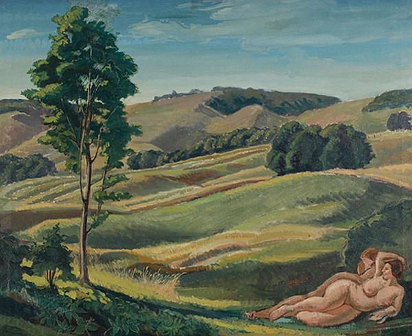 August Biehle, (American/Ohio; 1885 - 1979), Oil on canvas, 24