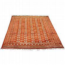 Bokhara Oriental room-size rug / carpet, Pakistan; 10x12.