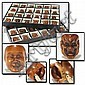 Collection of 48 Japanese carved boxwood theater mask netsuke