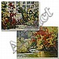 Two contemporary Chinese oil paintings on loose canvas by Xiao Fen Ge.