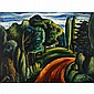 Hale Woodruff, (African American; 1900 - 1980), Country Road, Oil on canvas, 19.75
