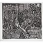 Margaret Burroughs, (African American; 1917 - 2010), DuSable Students, Linocut, 16