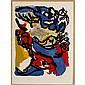 Karel Appel, (Dutch, 1921-2006), Composition 1958, color lithograph on Arches paper, Sheet; 30 1/4
