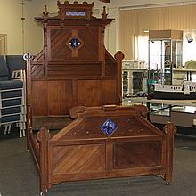 American Victorian Eastlake Bed Frame