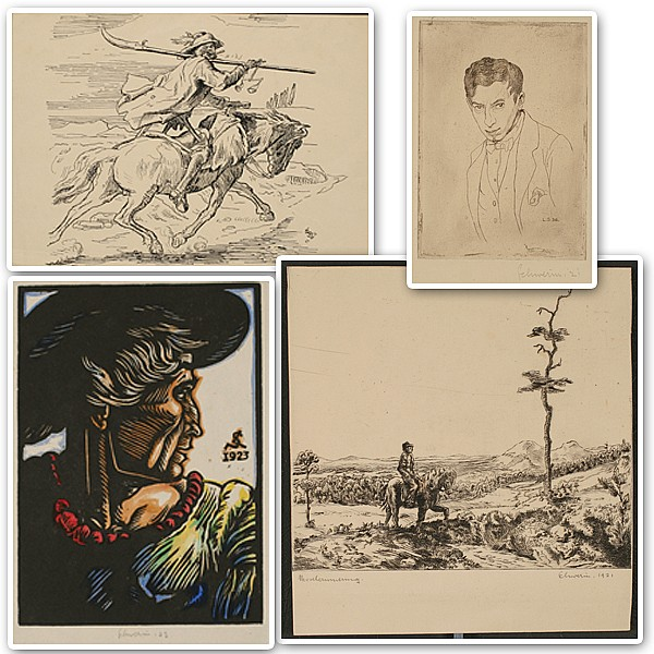 Four prints by Ludwig Schwerin.