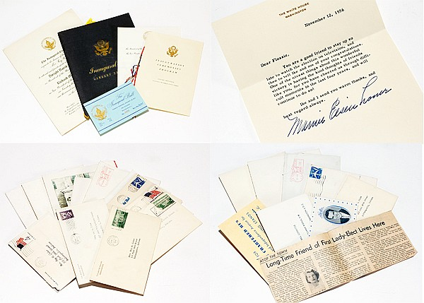 Collection Mamie Eisenhower personal correspondence and Presidential memorabilia from the White House to a close family friend.