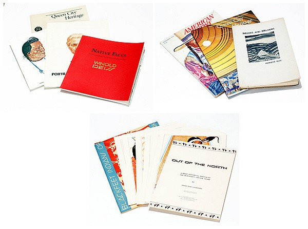 Collection of Winold Reiss publications including set of 24 lithographs for the Great Northern Railway Company, St Paul;