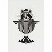 Charley Harper, American (1922-2007), Raccrobat (1978), Screenprint on paper